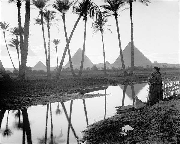 Three Pyramids Cairo Egypt 1936 Photo Print for Sale