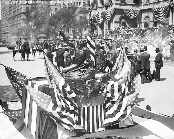 New York City Hall Olympic Trophy 1908 Photo Print for Sale