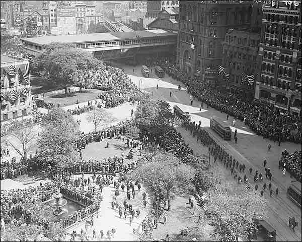 New York City Hall Olympic Parade 1908 Photo Print for Sale