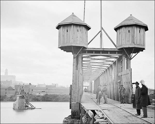 Civil War Cumberland River Bridge Tennessee Photo Print for Sale