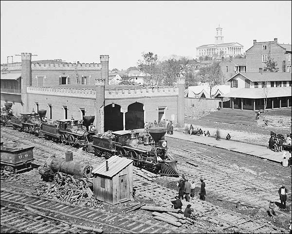 Civil War Railroad Yard Nashville Tennessee Photo Print for Sale
