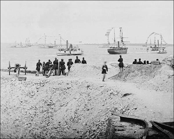Civil War Federal Navy at Charleston 1865 Photo Print for Sale