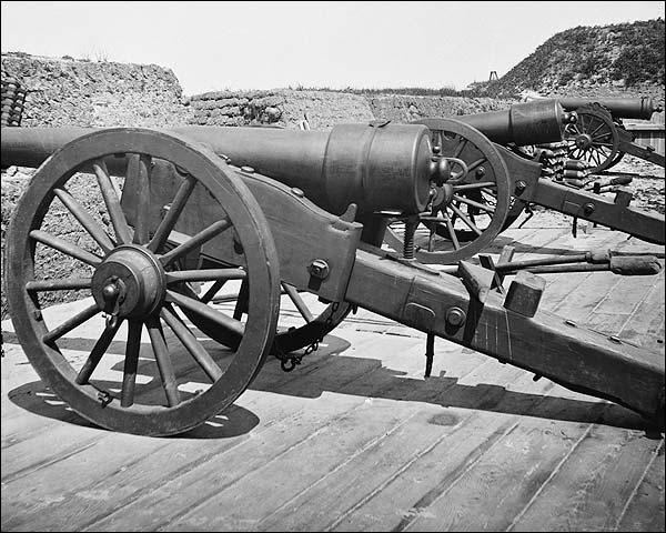 Fort Putnam Cannons S.C. Civil War 1865 Photo Print for Sale