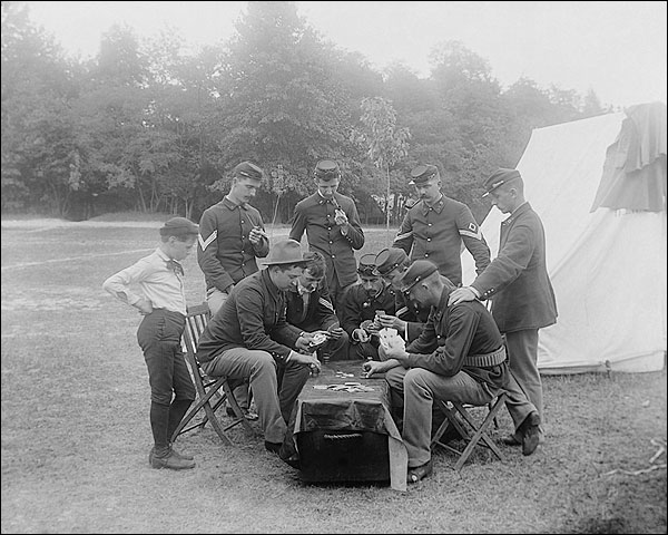 A Game of Poker, Camp McKibbin Photo Print for Sale