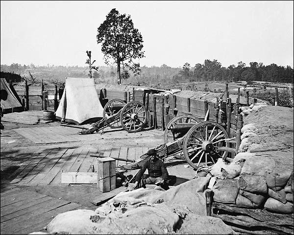 Confederate Fort Atlanta Barnard Civil War Photo Print for Sale
