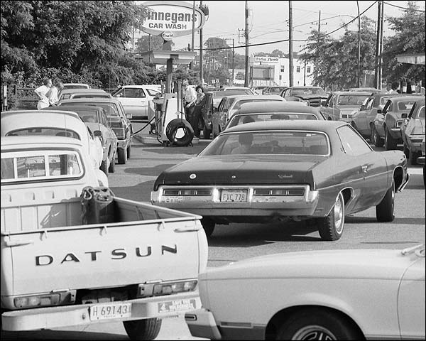 Long Gas Lines 1979 Warren K. Leffler Photo Print for Sale