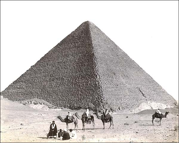Great Pyramid & Camel Riders Egypt 1867 Photo Print for Sale
