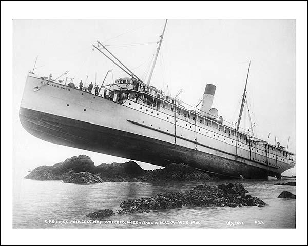 S.S. Princess May Ship Wreck Alaska Photo Print for Sale