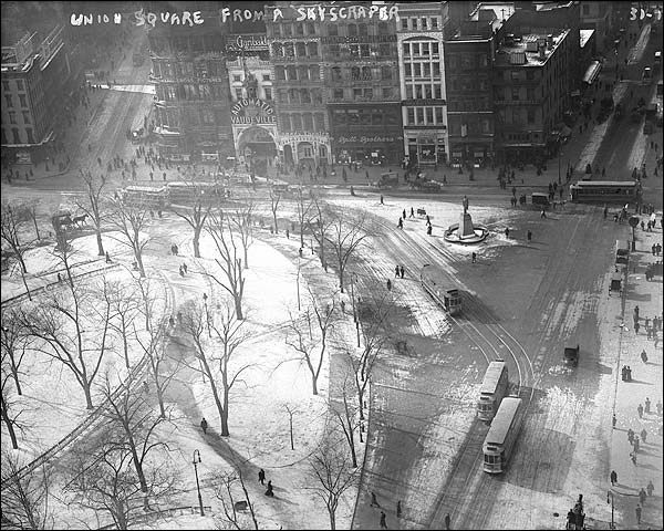 Early New York Union Square 14th Street Photo Print for Sale