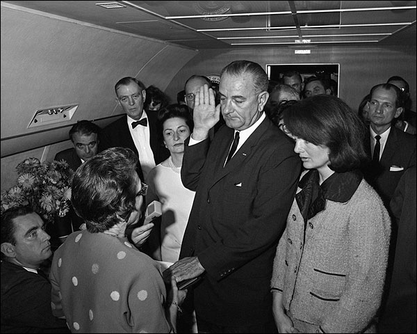 President Lyndon Johnson Swearing In Photo Print for Sale