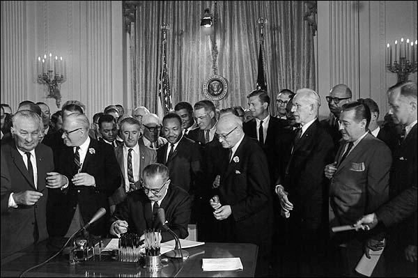 Lyndon Johnson & Martin Luther King CRA Photo Print for Sale