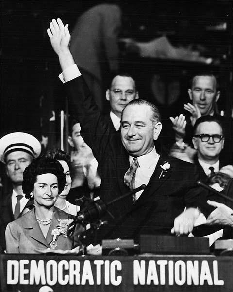 Lyndon Johnson Democratic Convention Photo Print for Sale