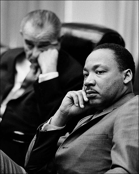 Martin Luther King Jr & Lyndon Johnson Photo Print for Sale