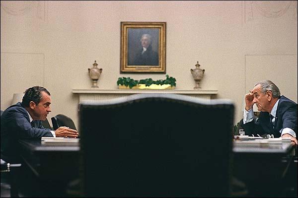 President Lyndon Johnson & Richard Nixon Photo Print for Sale
