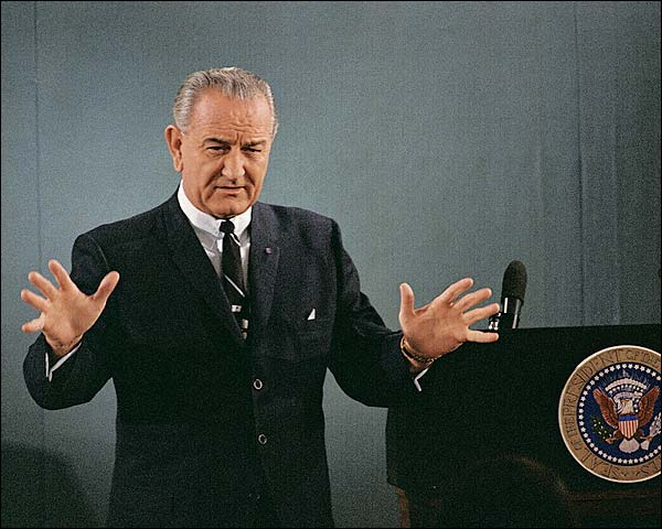 Lyndon Johnson Vietnam War Tet Offensive Photo Print for Sale