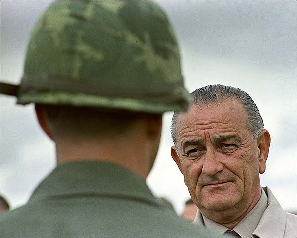 President Lyndon B. Johnson Visits Vietnam Photo Print for Sale