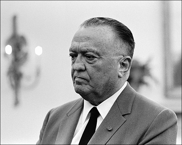 J Edgar Hoover in White House Meeting Photo Print for Sale