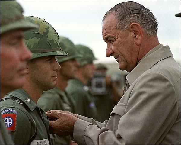 President Lyndon Johnson in Vietnam Photo Print for Sale