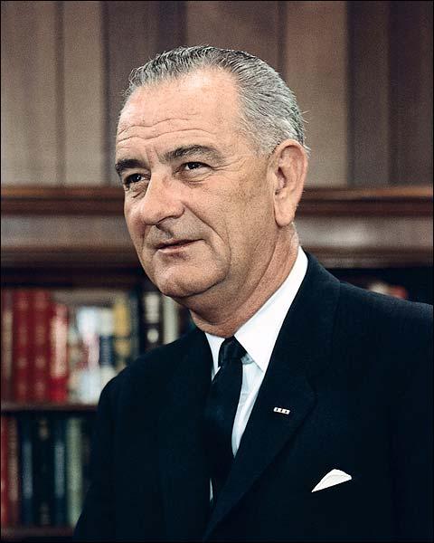 President Lyndon B. Johnson Portrait 1965 Photo Print for Sale