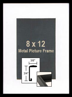 8x12 Black Photo Frames - 8 x 12 Black Metal Picture Frames For Sale
