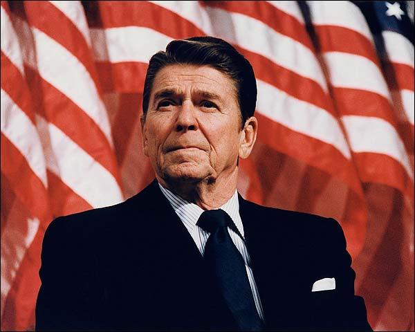 President Ronald Reagan Patriotic Portrait Photo Print for Sale