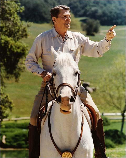 President Ronald Reagan on Horseback Photo Print for Sale
