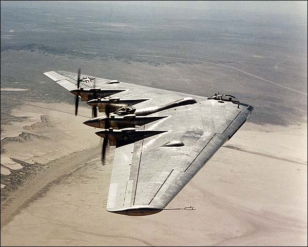 Old Kodak Photo Border Northrop B-35 Flying W...