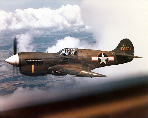Curtiss P-40 Warhawk WWII Photo Print for Sale