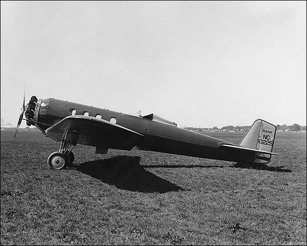 Boeing Monomail Model 221 Airplane Side Photo Print for Sale