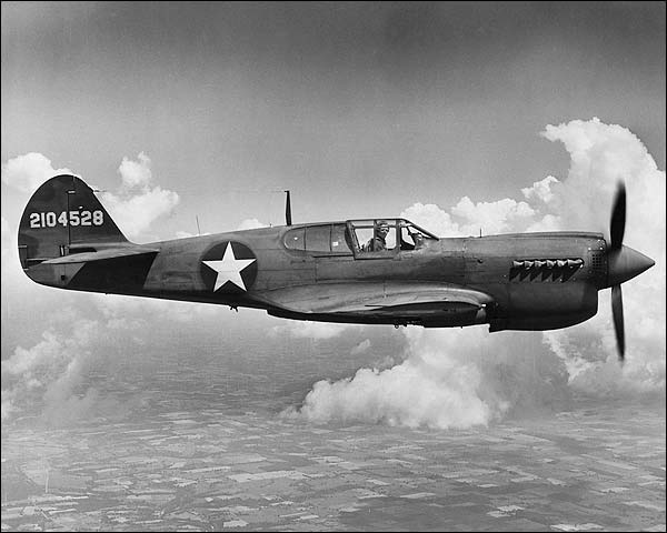 Curtiss P-40 Warhawk Aircraft WWII Photo Print for Sale