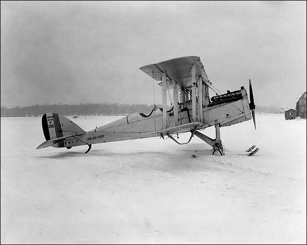 De Havilland DH-4 Airplane w/ Skis Side View Photo Print for Sale