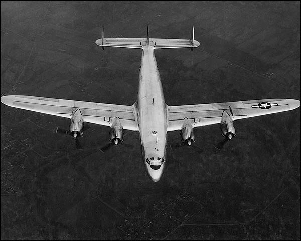 Lockheed C-69 Constellation Aircraft in Flight WWII Photo Print for Sale