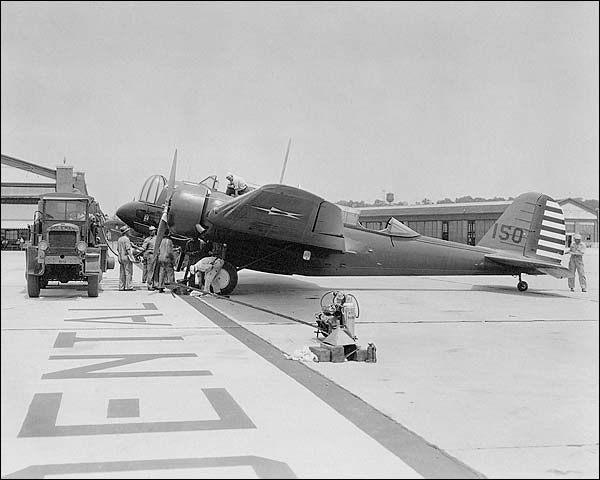 Martin YB-10 / B-10 Bomber Aircraft Being Serviced Photo Print for Sale