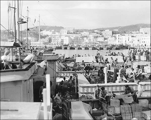 American G.I. Soldiers on Ship, Italy WWII Photo Print for Sale