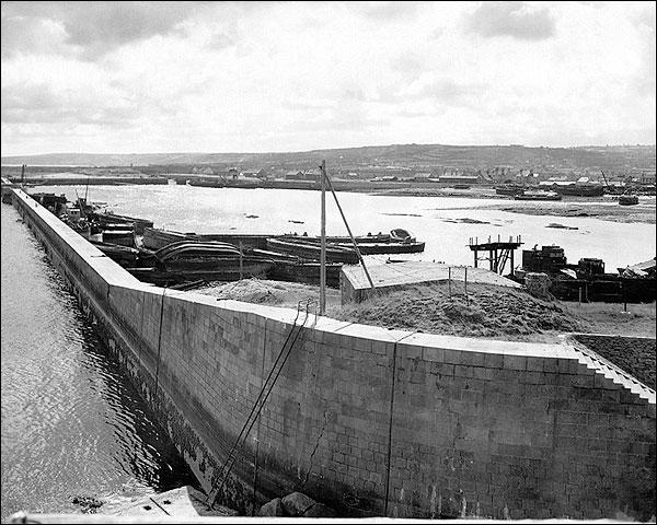 Le Port des Flamands, Cerbourg France, WWII Photo Print for Sale
