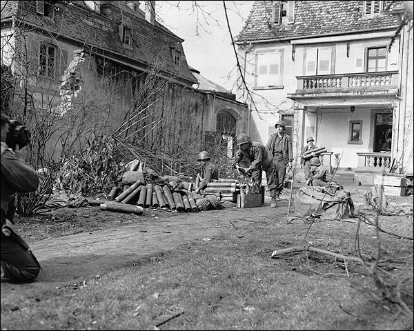 81-mm Mortar Ammunition Crew, France WWII Photo Print for Sale