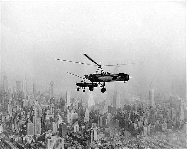 Pitcairn Auto-Gyros Over New York City Photo Print for Sale