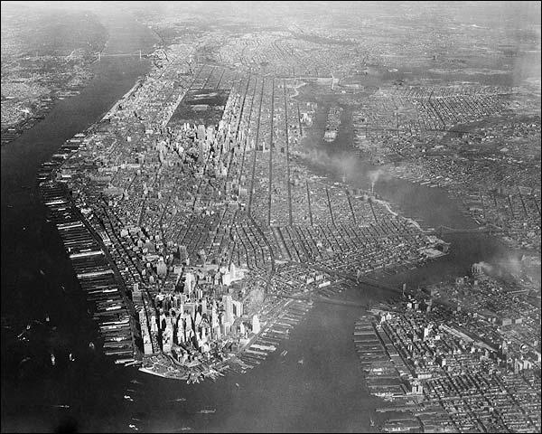 Manhattan New York City Aerial View 1936 Photo Print for Sale