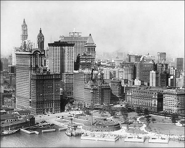 Downtown Manhattan & Battery Park, NYC Photo Print for Sale