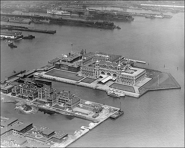 Ellis Island Aerial New York City 1920 Photo Print for Sale