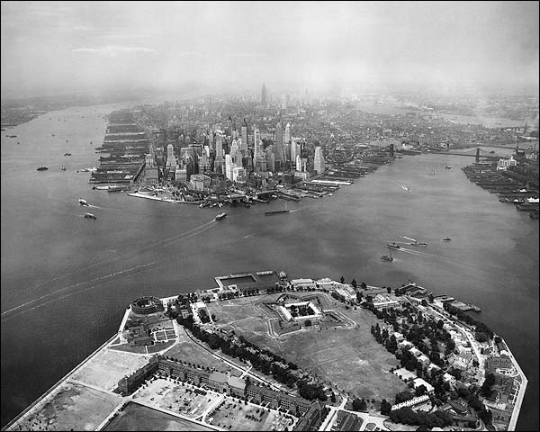 Lower Manhattan & Governors Island, NYC Photo Print for Sale