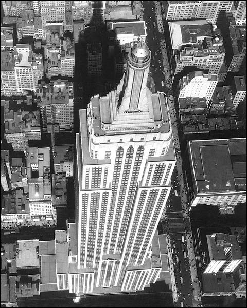 Empire State Building Aerial, New York City Photo Print for Sale