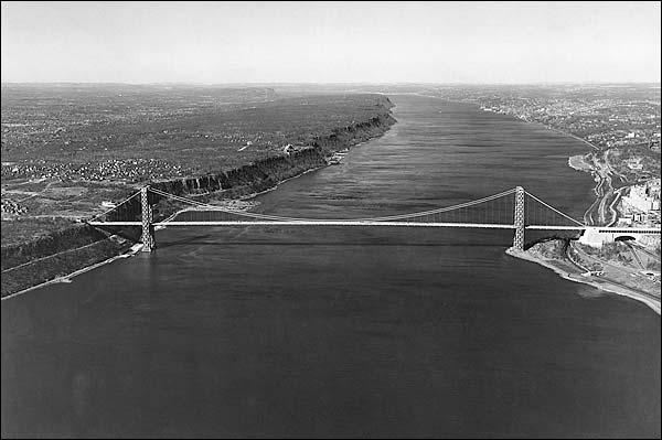George Washington Bridge over Hudson River Photo Print for Sale