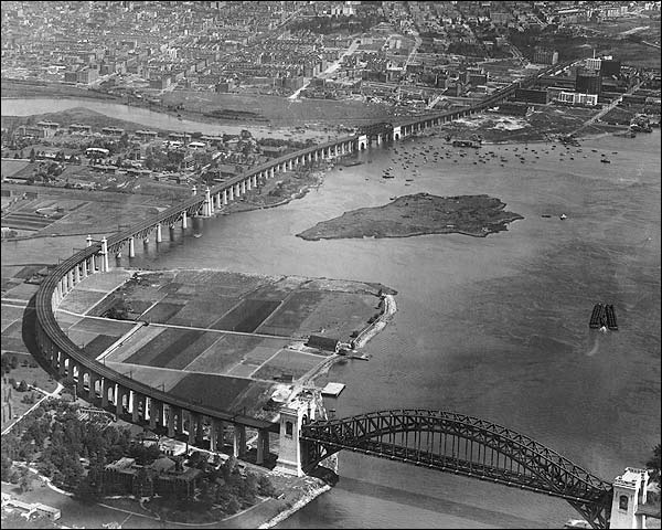 Hell Gate Bridge Aerial New York City NYC Photo Print for Sale