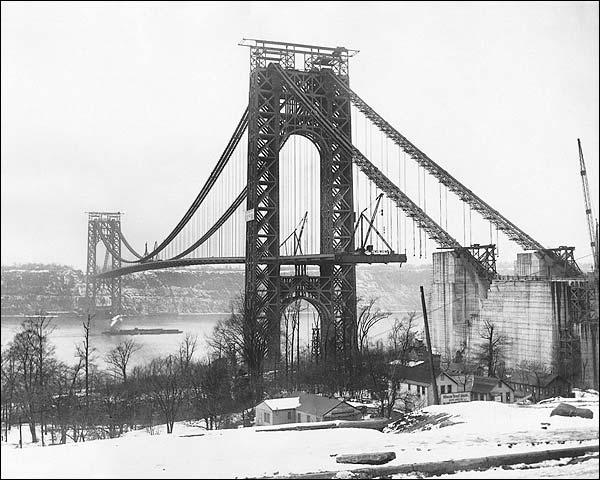 George Washington Bridge Construction, NYC Photo Print for Sale
