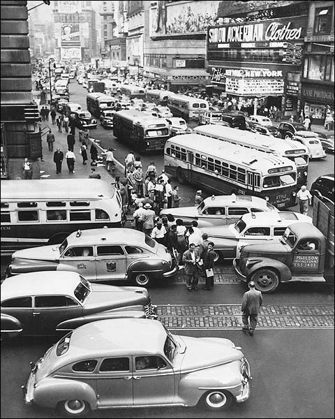 43rd St. / Times Square New York City 1948 Photo Print for Sale
