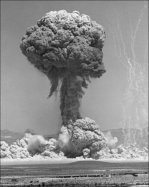 Atomic Bomb Testing at Nevada Test Site Photo Print for Sale