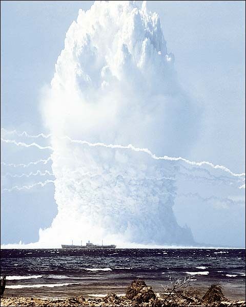 Swordfish Nuclear Bomb Explosion Photo Print for Sale