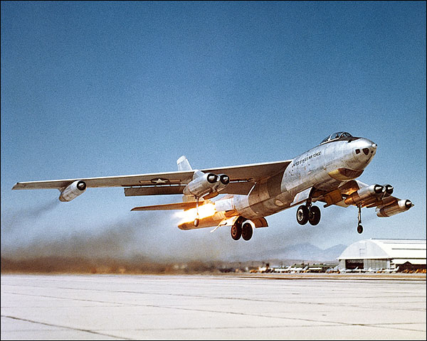 B-47 Stratojet Bomber Rocket Assist Takeoff Photo Print for Sale