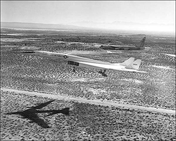 B-52 w/ XB-70 / XB-70A Final Approach Photo Print for Sale